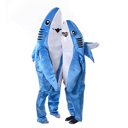 Childrens Shark Costumes (Halloween Adult Kids Cosplay Costume Christmas Shark Stage Fancy Dress Jumpsuit Xmas Gifts (Kids M))