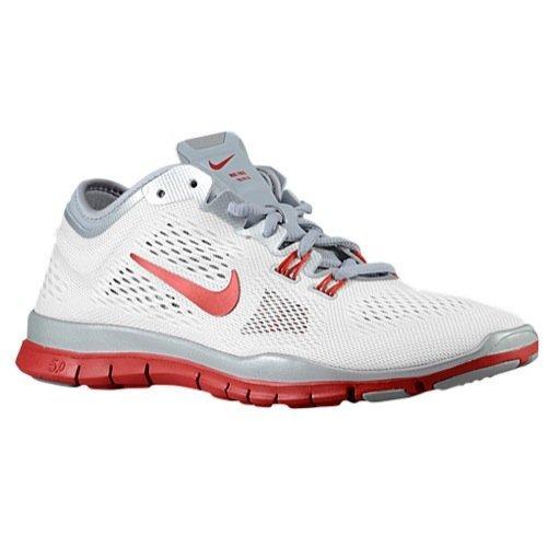 Nike Frauen Free 5.0 Tr Fit 5 Prt Trainingsschuh Frauen US Weiß / Wolf Grau-Pure Platin-Sport Rot