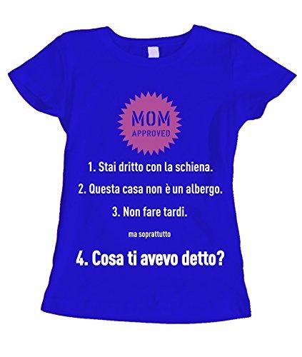 Festa Blu humor Mamma regole della Approved della in regalo cotone Mom Mamma idea Tshirt Oxq48HwdO