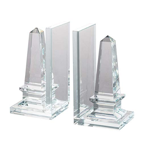Loui Michel Cie S/2 8x3.5x8 Tower Bookend, Set of 2, Clear