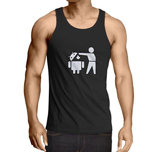 lepni.me Vest Funny Android Robot - Gift for tech Fans (Large Black -