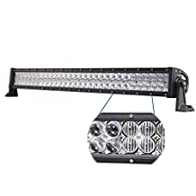 Willpower 32 inch 300W 5D LED Light Bar Spot Flood Driving Work Lamp Lights Waterproof for Off road Car Trucks ATV SUV 4X4 Tractor Jeep Cabin UTE Boat Vehicle