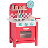 Ultrakidz petite cuisine jouet «Charly» en bois avec ustensiles de cuisine