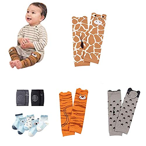Baby Leg Warmers Leggings Knee pads socks for Toddler (pack 10 pairs)
