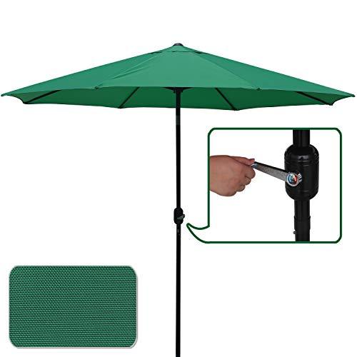ABCCANOPY Commercial Event Market Aluminum Umbrella 9 FT Patio Umbrella with Push Button Tilt and Crank,Forest Green-3 Review
