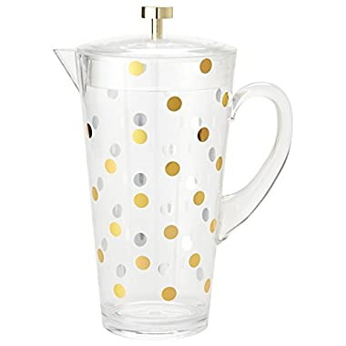 kate spade new york Raise a Glass Acrylic Pitcher, Gold Dots