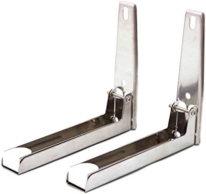 507251 soporte para microondas cocina bandeja de horno ángulo soporte marco de acero inoxidable