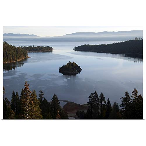 (GREATBIGCANVAS Poster Print Entitled Early Morning Light illuminates Emerald Bay in Lake Tahoe, CA by 18