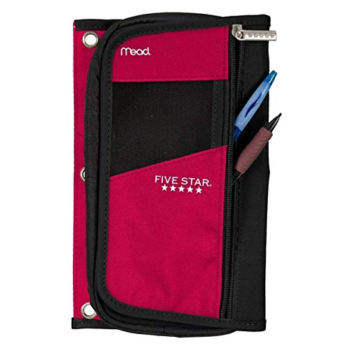 Five Star Organizer Pencil Pouch, Assorted Colors (No Color Choice) -