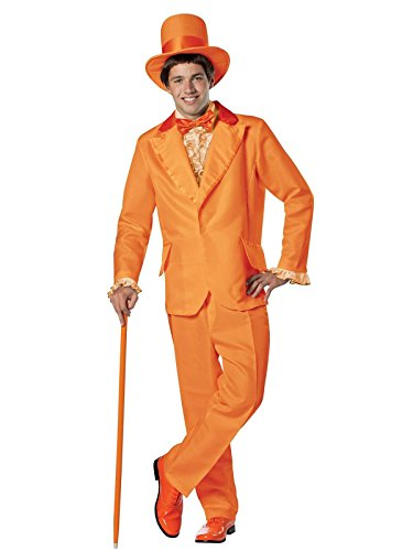 Tuxedo Costumes - Rasta Imposta Dumb and Dumber Lloyd Christmas Tuxedo Costume, Orange, One Size