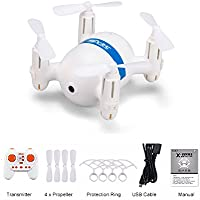 RC Quadcopter with Altitude Hold Mode,2.4Ghz 6Channel 6-Axis Gyro Headless Mode Mini Remote Control Drone,RC Helicopter with LED Lights One key Return