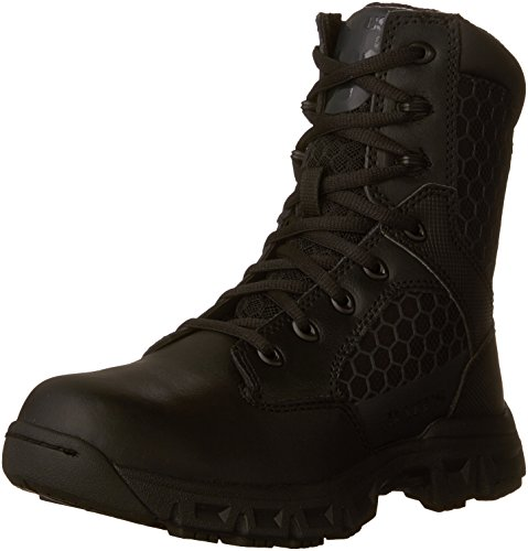 Bates Women's Code 6 Black 8 Inch Boot, Black, 7.5 M US by Bates