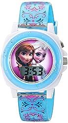 Disney Kids' FZN3588 Frozen Anna and Elsa Blue Watch