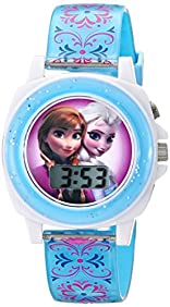 Disney Kids' FZN3588 Frozen Anna and Elsa Blue Watch