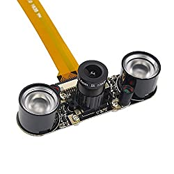 Shchv Raspberry Pi Zero W Camera Night Vision Webcam + 2 Infrared Ir Led Light For Raspberry Pi Zero