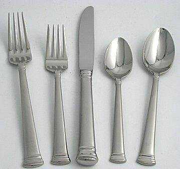 Lenox Flatware Eternal Frosted 5 Piece Place Setting Stainless