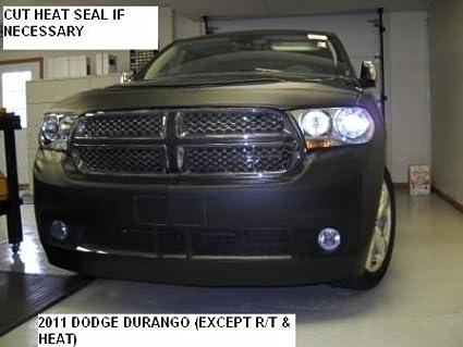 Fits DODGE,DURANGO,2007 thru 2009 Lebra 2 piece Front End Cover Black Car Mask Bra
