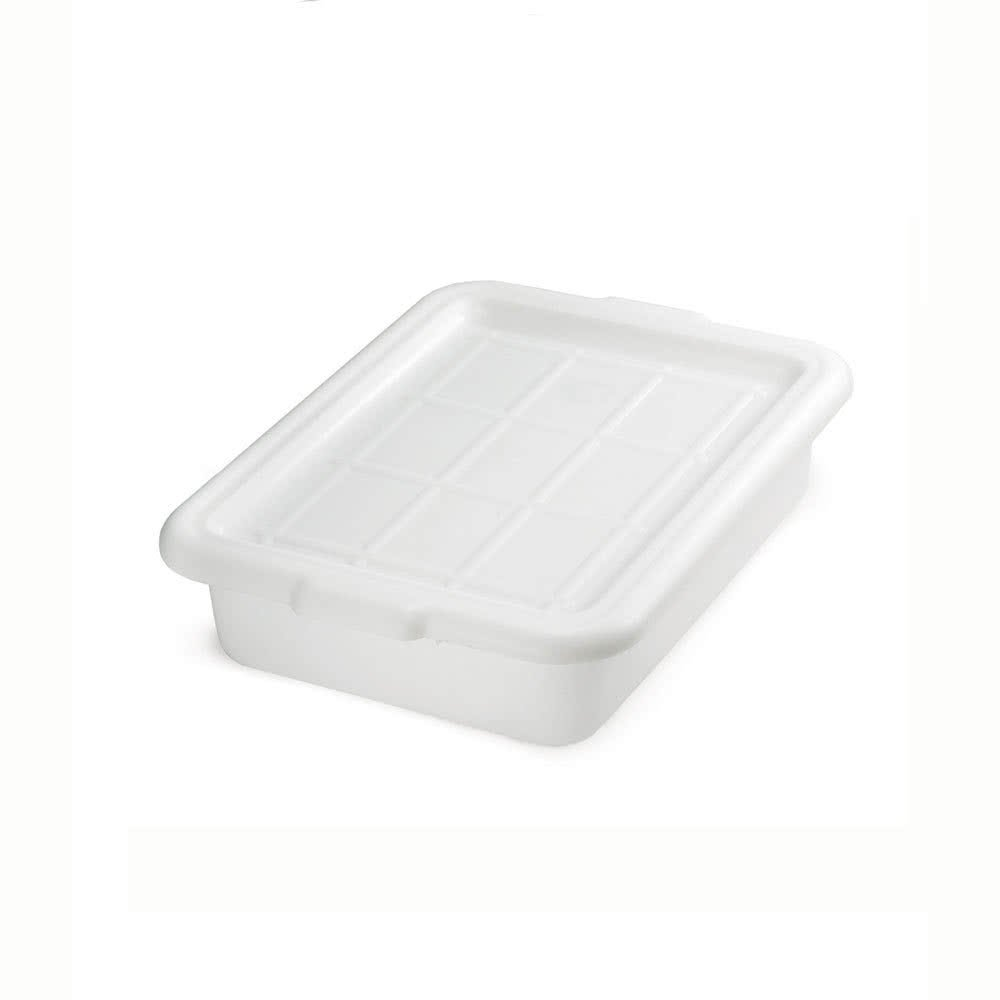 Tablecraft F1529 White 21'' x 16'' x 5'' Polyethylene Plastic Bus Tub, Bus Box by Tablecraft