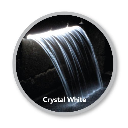 Atlantic Water Gardens Lighted Waterfall Spillway, 36-inch Crystal White Colorfalls