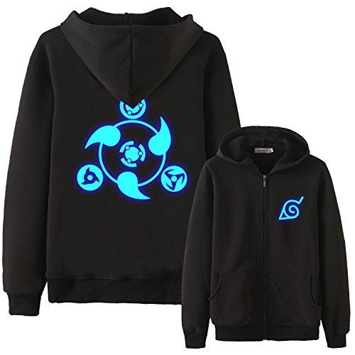 - Holran Anime Naruto Akatsuki Clothing Printed Jacket Size S