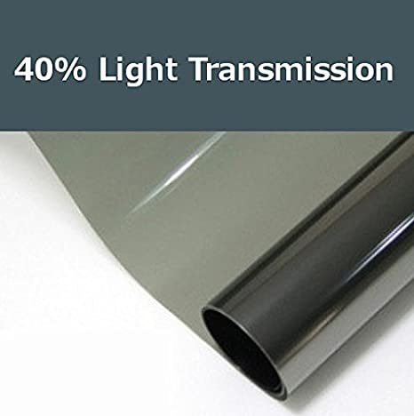 40% shade color 24 Inches by 10 Feet Window Tint Film Roll, for privacy and heat reduction PROTINT WINDOWS