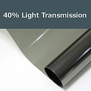 40% shade color 24 Inches by 10 Feet Window Tint Film Roll, for privacy and heat reduction