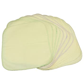 Reusable And Washable Unbleached OsoCozy Flannel Baby Wipes 15 Pack