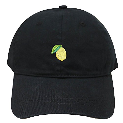 City Hunter C104 Small Lemon Cotton Baseball Dad Caps - Multi Colors (Black) for $<!--$12.99-->