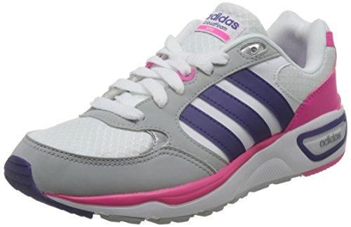 adidas Cloudfoam 8tis W, Zapatillas de Deporte Para Mujer Blanco (Ftwbla / Puruni / Rosimp)