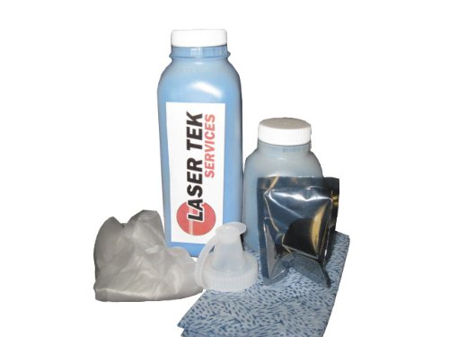 Laser Tek Services ® Cyan Toner Refill Kit with reset chip for the Xerox Phaser 6280, 6280DN, 6280N, 106R01392 ()