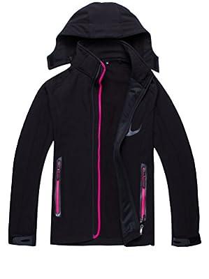 Zestway Women's Outwear Windproof Polar Fleece Jacket Hooded Softshell Sportswear