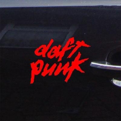 ノートブックビニール壁アートDie Cutアート粘着ビニールホーム装飾壁車Daft Punkウィンドウステッカーデカール車Rock Bandレッド装飾バイクMacbookヘルメット装飾ノートパソコン自動 B014NFMGMM  - -