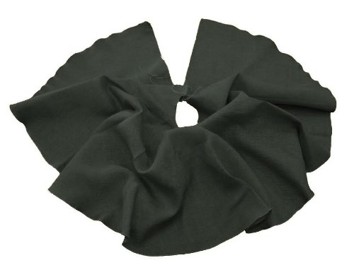 LA Linen Hessian Jute Burlap Tree Skirt, 40'' Round / Pack of 1 / Black