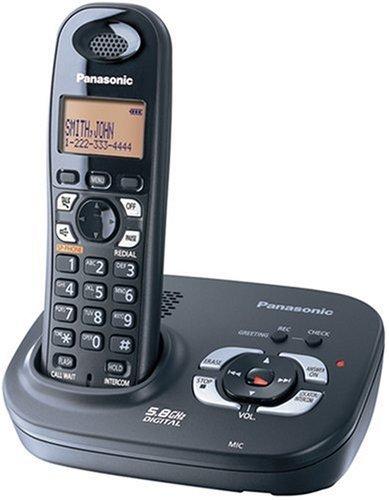 - Panasonic 5.8 GHZ Single Handset System Expandable Digital Cordless Answering System (KX-TG4321B) (Renewed)