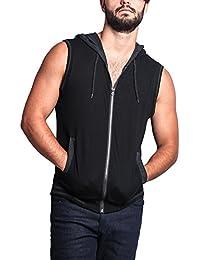 G-Style USA Lightweight Sleeveless Contrast Hoodie