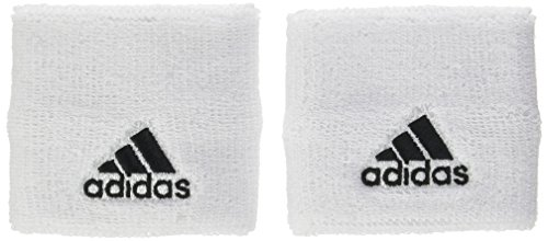 (Adidas Tennis Wristband Small White Black Sweatband Unisex Mens S97837)
