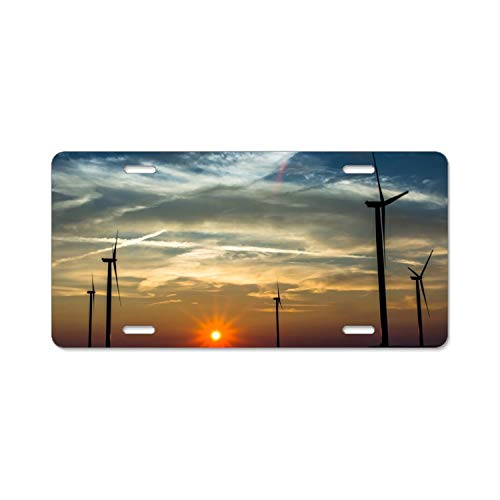(YEX Abstract Modern Windmill 10 License Plate Frame Car Licence Plate Covers Auto Tag Holder 6