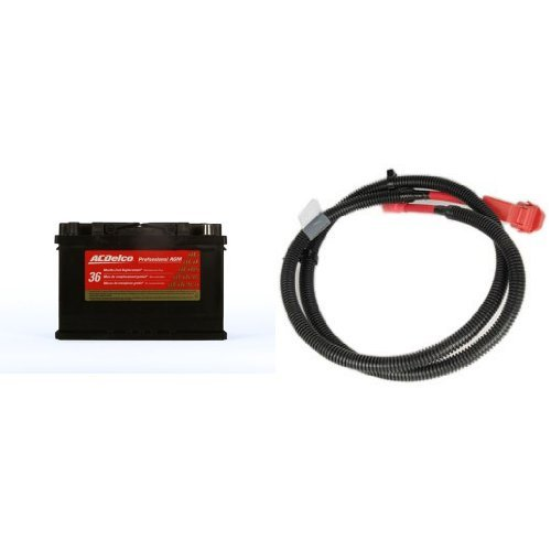 ACDelco 48AGM Professional Automotive AGM BCI Group 48 Battery with Auxillary Battery Positive Cable by ACDelco