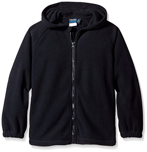 Nautica Big Boys' Uniform Polar Fleece Jacket With Hood, Navy, (Boys Hooded Fleece Jacket)