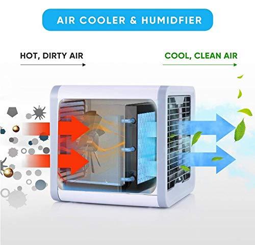 humidificador y purificador del Aire; con Puerto de USB Tango Miniacondicionador de Aire port/átil