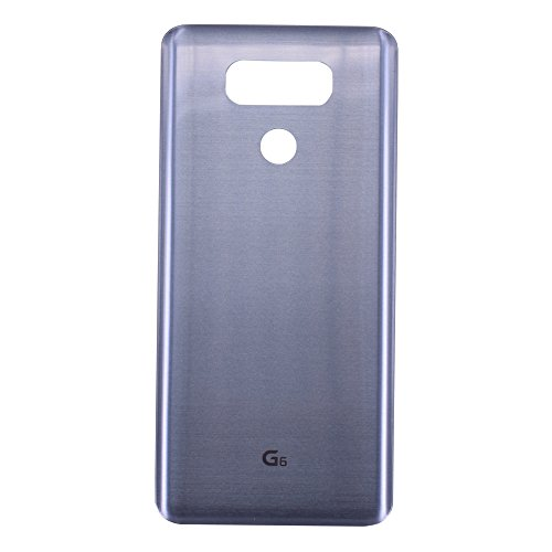 Dogxiong Silver/Light Blue/Grey/Platinum Back Rear Housing Battery Genuine 100% Really Glass Door Cover Case Replacement for LG G6 H870, LS993, H872, H871, VS988