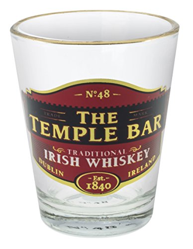 Loose Shot Glass With Temple Bar Traditional Irish Whiskey - Bar Schnapps