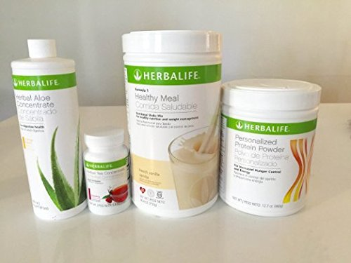 HERBALIFE Aloe Tea Shake Protein QUICK COMBO(Message us with your desired flvour at the time of ordering the product). by HERBALIFE