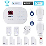 Fortress Security Store S03 WiFi and Landline Security Alarm System Classic Kit Wireless Home Security System Works with Alexa and App Controlled