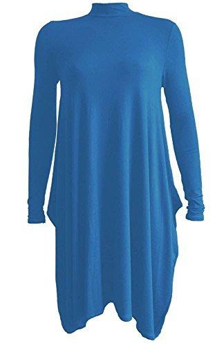Generic Damen Swing-Kleid Kleid, Einfarbig * Einheitsgröße - Türkis, 50