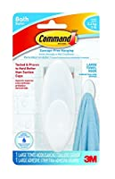 Command BATH17-ES-E 1 Hook 1 Large Strip Large Towel Hook