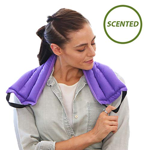 - My Heating Pad- Multi Purpose Wrap — Lavender Flower Scent - Microwavable & Reusable for a Healthy Lifestyle (Purple)