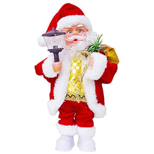 (LUCKSTAR Electric Santa Claus- Creative Music Doll Singing Dancing Xmas Santa Claus Toy Ornaments Christmas Decorations (Color-2))