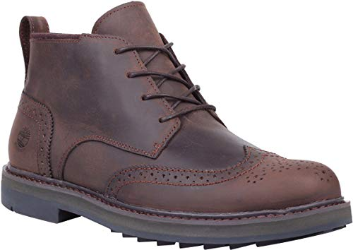 Timberland Men's Squall Canyon Wingtip Waterproof Chukka Dark Brown Full Grain 9.5 D US ()