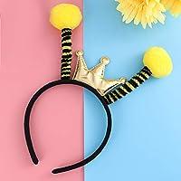 Prettyia 2xInsect Antenna Headband Costume Girl Ant Ladybug Dress Up Yellow